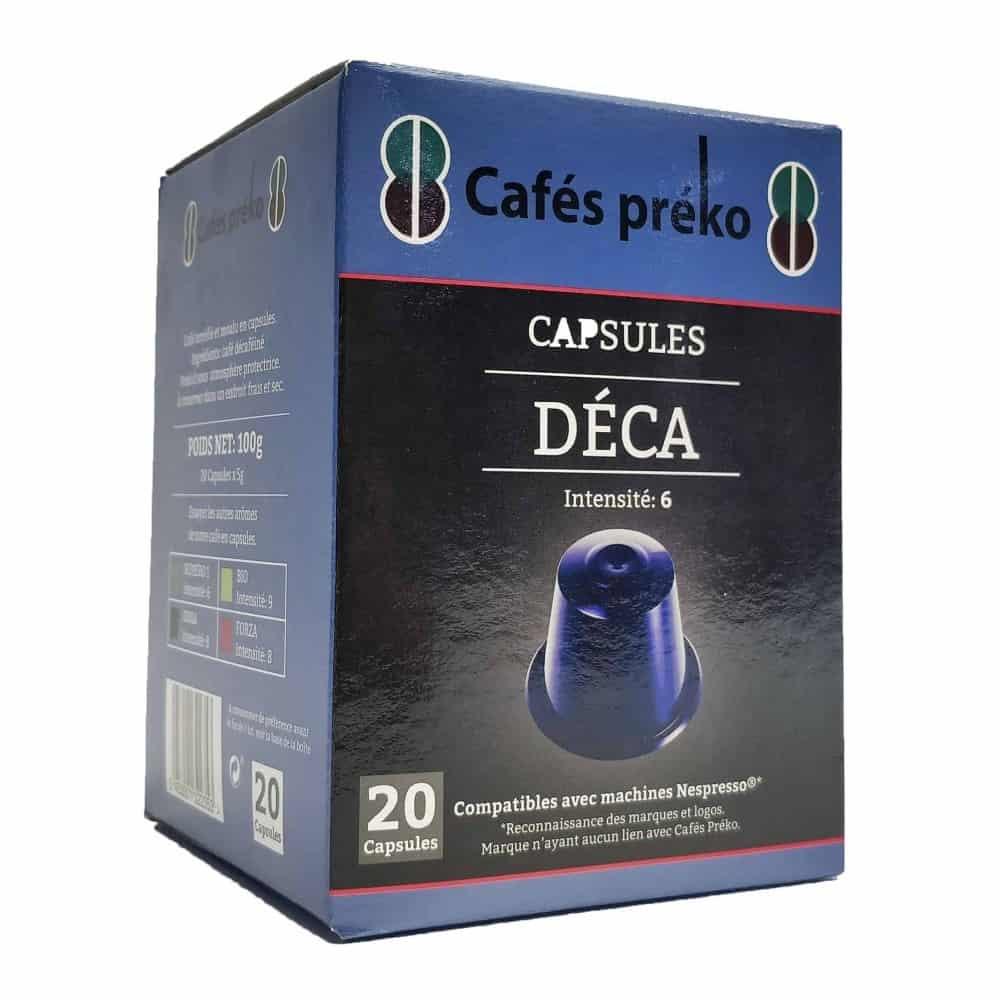 Café capsules bio